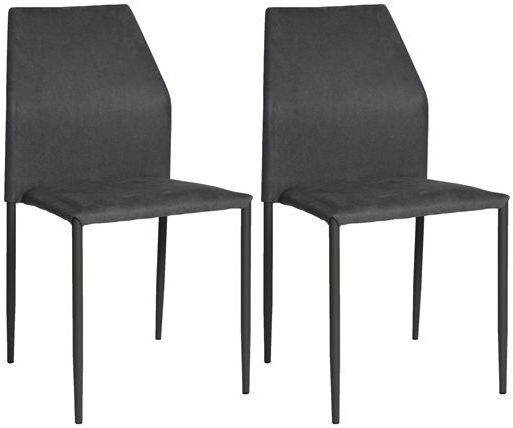 Milo Grey Fabric Stackable Dining Chair (Set of 4)