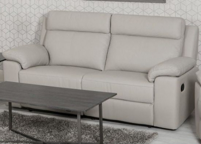 Enzo Putty Leather 3 Seater Recliner Sofa