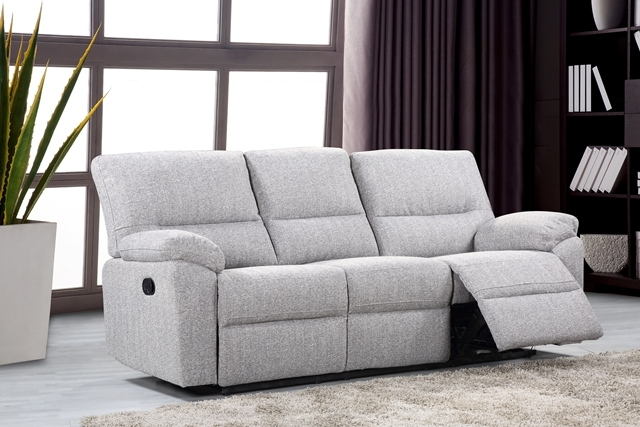 Florida Fabric 3 Seater Recliner Sofa