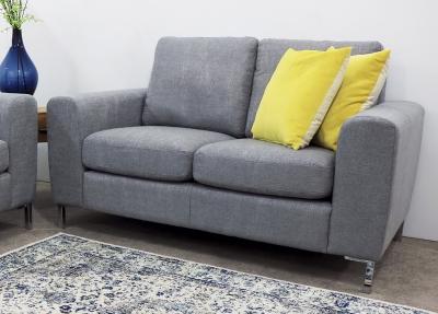 Gibson Grey Fabric Fixed Sofa
