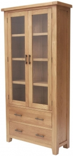 Hampshire Oak Display Cabinet