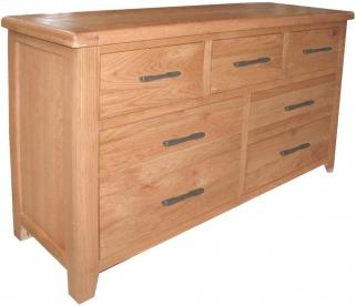 Hampshire Oak 4+3 Drawer Dresser Chest