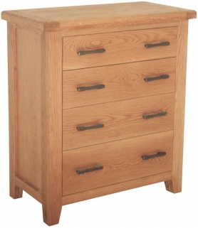 Hampshire Oak 4 Drawer Chest