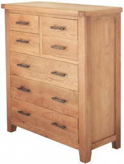 Hampshire Oak 3+4 Drawer Chest