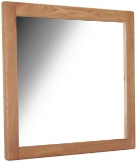 Hampshire Oak Rectangular Mirror - 100cm x 95cm