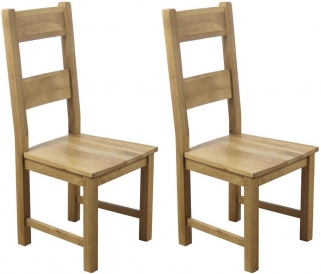 Hampshire Oak Solid Seat Dining Chair (Pair)