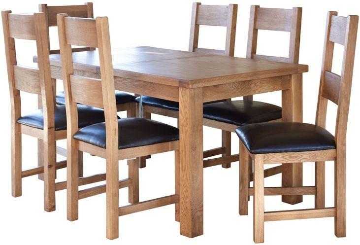 Hampshire Oak Extending Dining Table