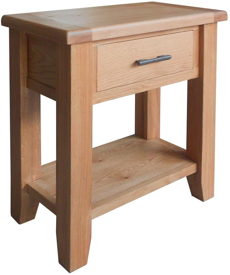 buy hampshire oak 1 drawer small console table online cfs uk. Black Bedroom Furniture Sets. Home Design Ideas