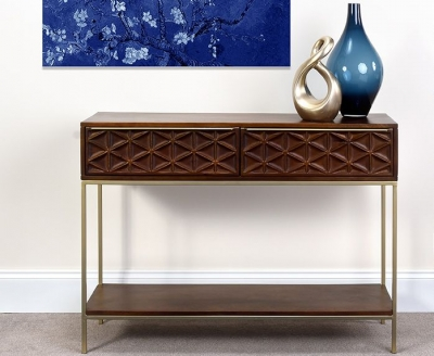 Ivy Mango Wood Console Table
