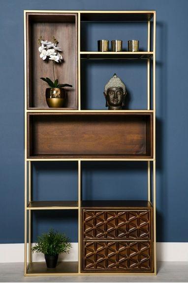 Ivy Mango Wood Bookcase