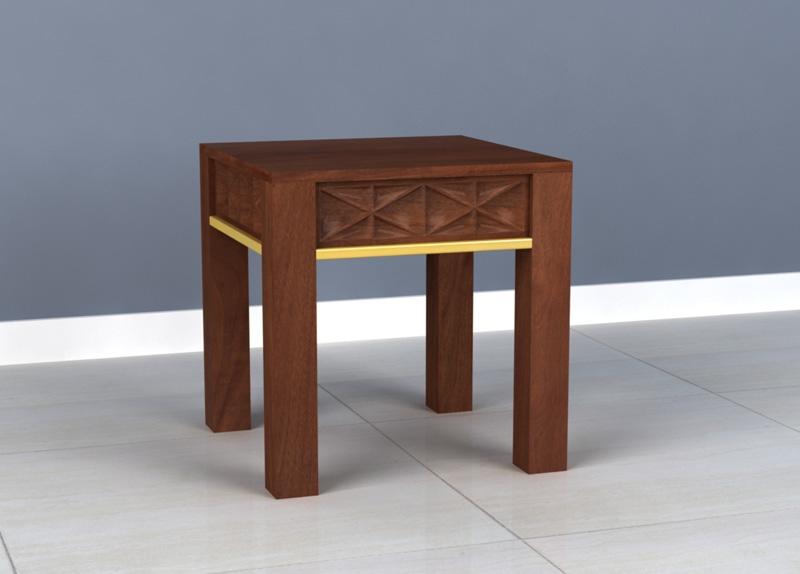 Ivy Mango Wood End Table