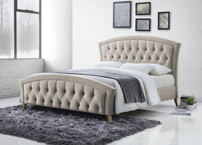 Katie Champagne Fabric Bed