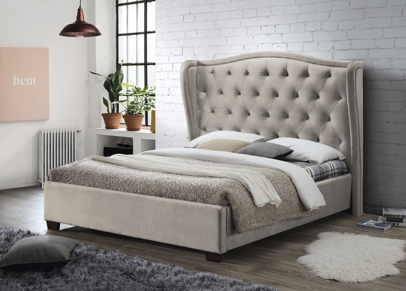 Lauren Champagne Fabric Bed