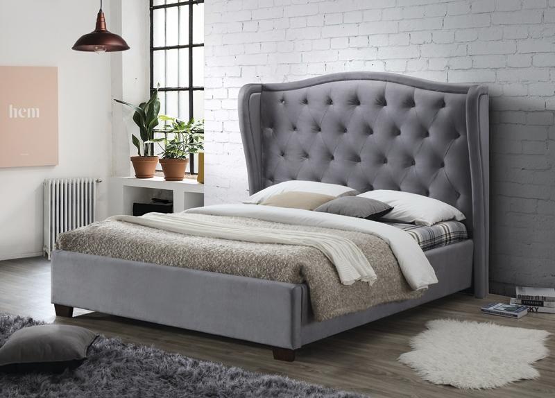 Lauren Grey Fabric Bed