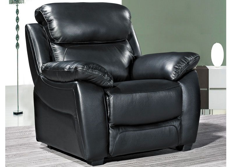 Lucca Black Leather Armchair