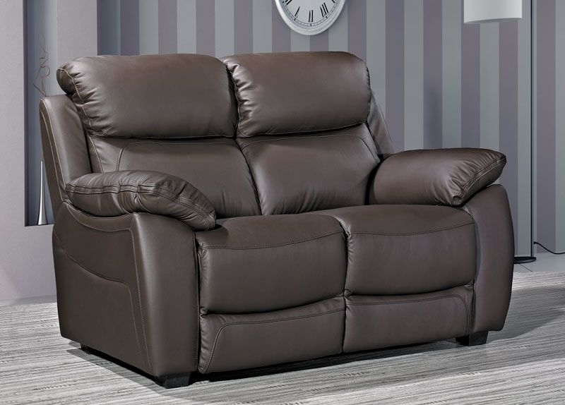 Lucca Brown Leather 2 Seater Sofa