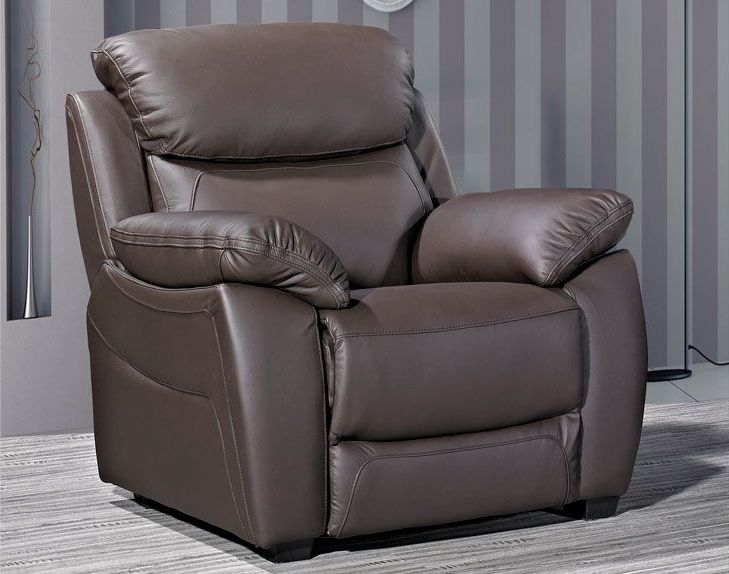 Lucca Brown Leather Armchair