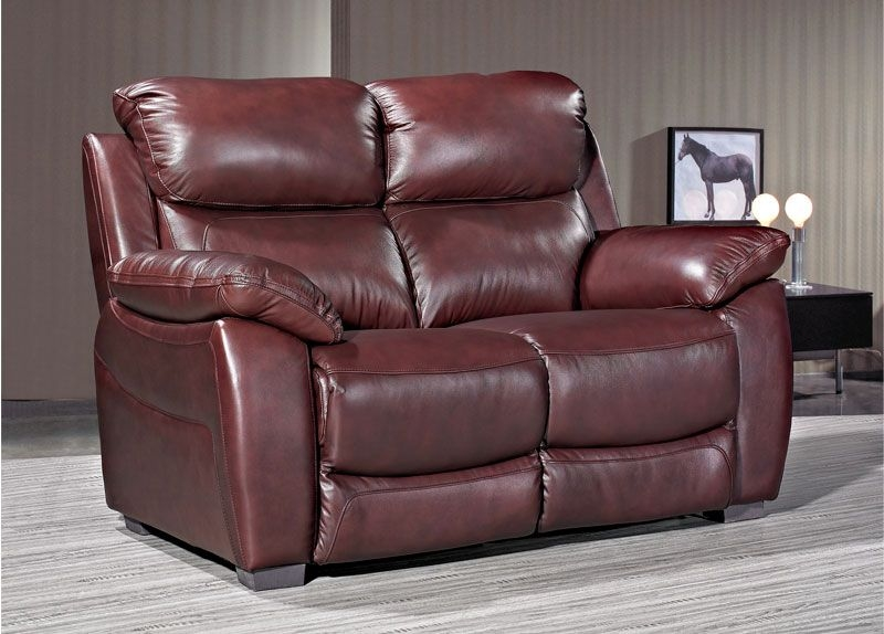 Lucca Chestnut Leather 2 Seater Sofa