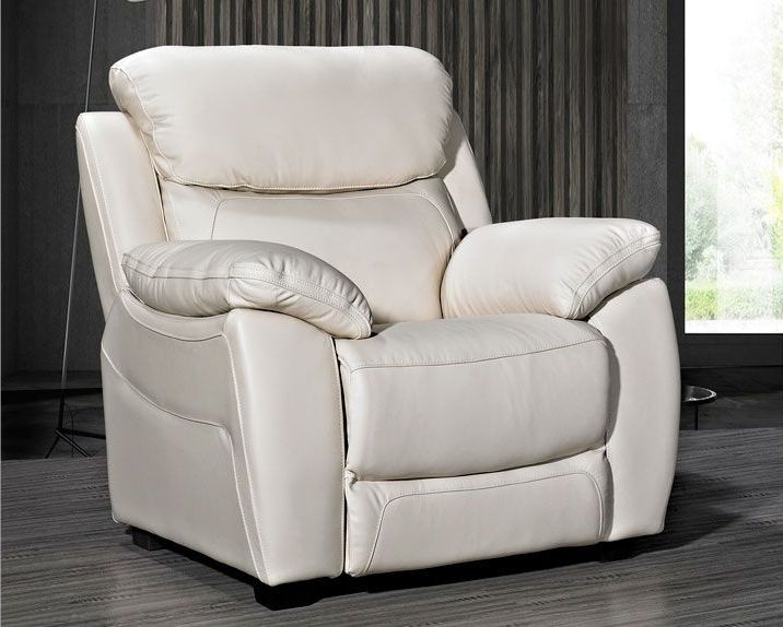 Lucca Ivory Leather Armchair
