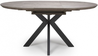 Manhattan Grey Round Extending Dining Table