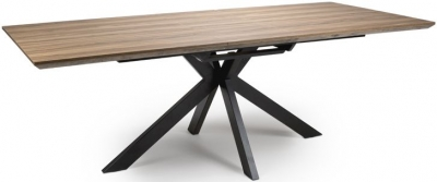 Manhattan Light Walnut Extending Dining Table