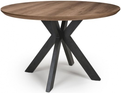 Manhattan Light Walnut Round Dining Table