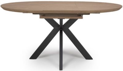 Manhattan Light Walnut Round Extending Dining Table