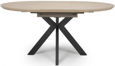 Manhattan Oak Round Extending Dining Table