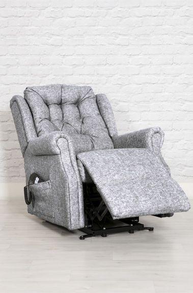 Milton Twin Motor Lift Recliner Chair - Zinc Fabric