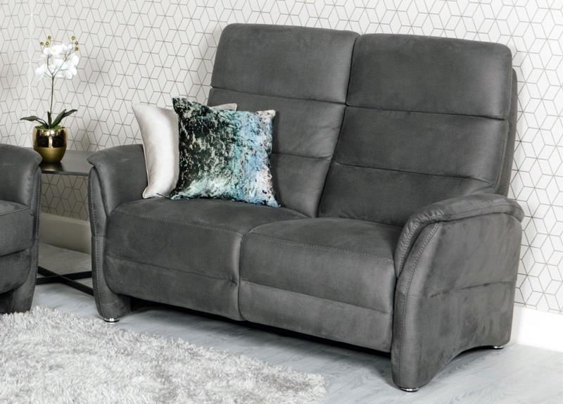 Oslo 2 Seater Sofa - Grey Fabric