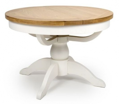 Oxford Painted Single Pedestal Extending Dining Table