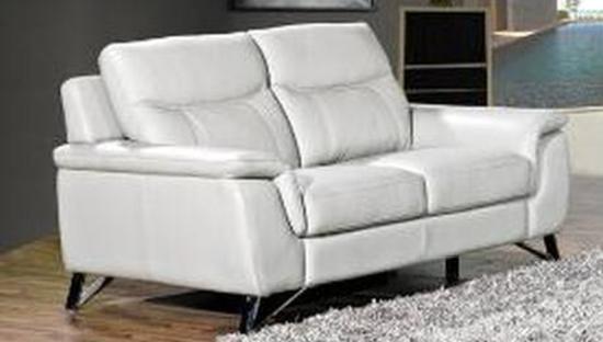 Paloma Putty Leather 2 Seater Fixed Sofa