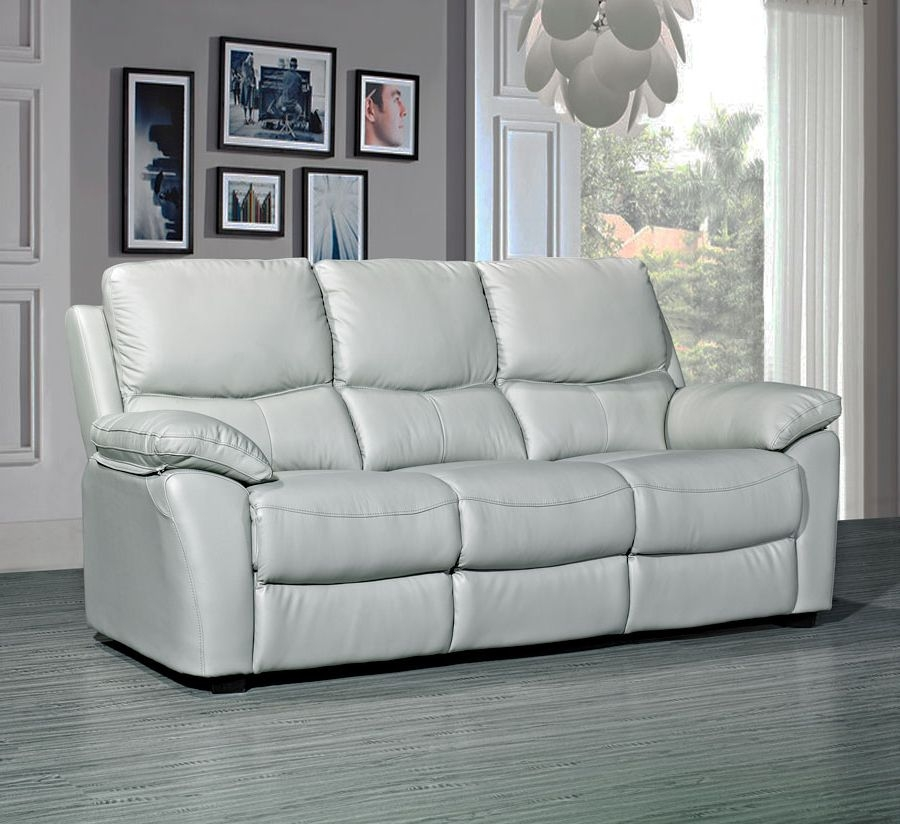 Rossi Leather 3 Seater Fixed Sofa