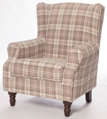 Shetland Latte Fabric Accent Chair
