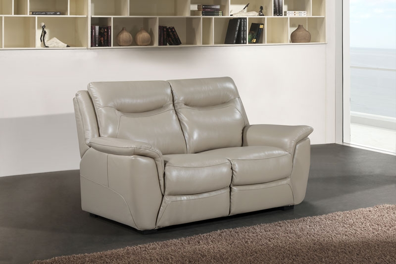 Siena Taupe Leather 2 Seater Sofa