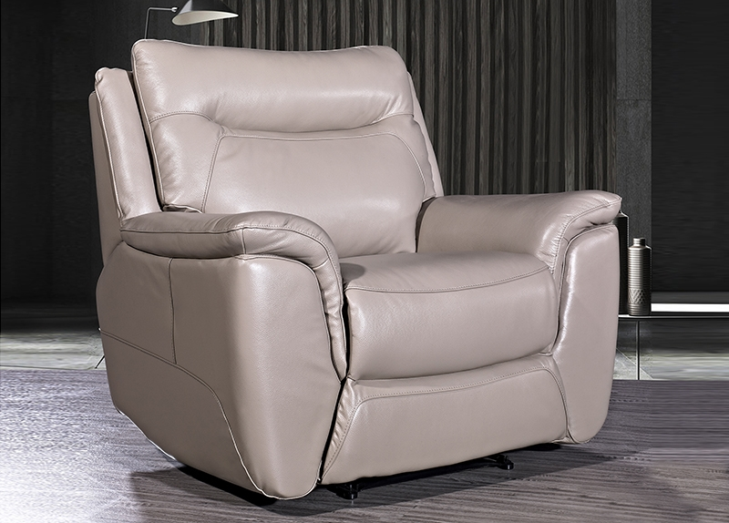 Siena Taupe Leather Armchair