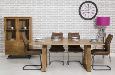 Sophia Acacia Dining Table and 4 Charlie Brown Chairs