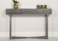 Tate Console Table - Grey and Metal