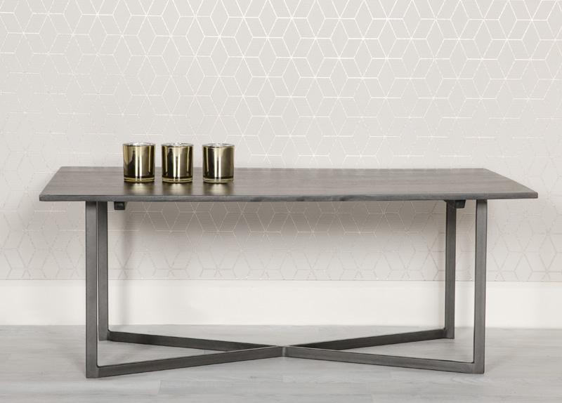Tate Coffee Table - Grey and Metal