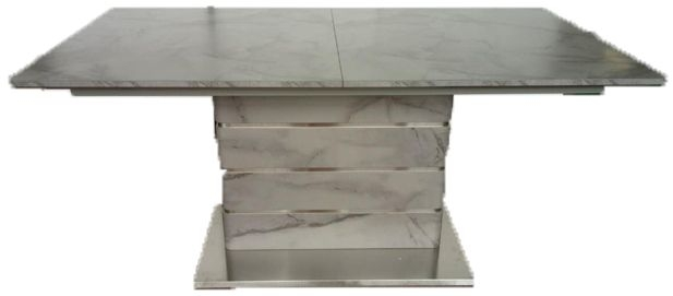 Vancouver Grey Marble Extending Dining Table