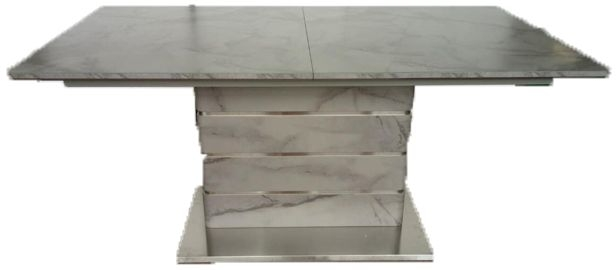 Vancouver Grey Marble Rectangular Dining Table - 160cm