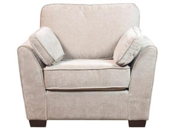 Vienna Honey Mink Fabric Armchair