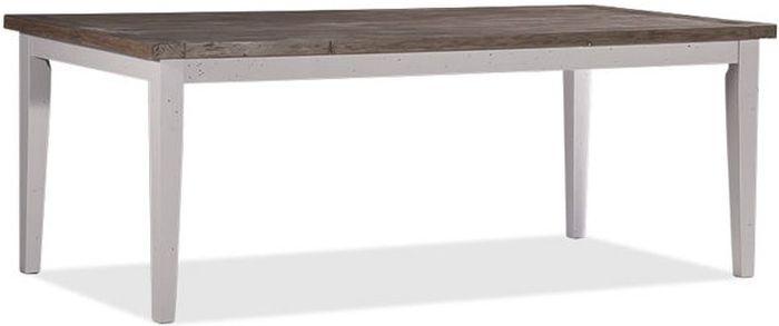 Wellington Cotton White Reclaimed Pine Rectangular Dining Table - 150cm