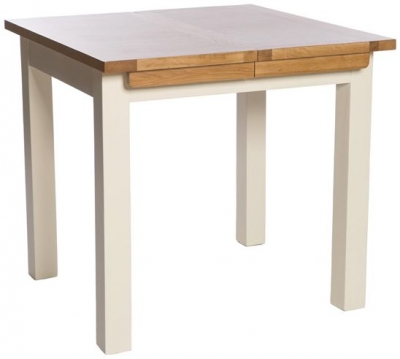 York Ivory Extending Dining Table