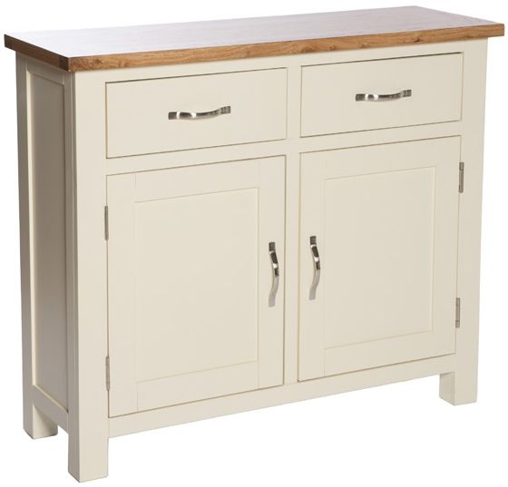 York Ivory 2 Door 2 Drawer Narrow Sideboard