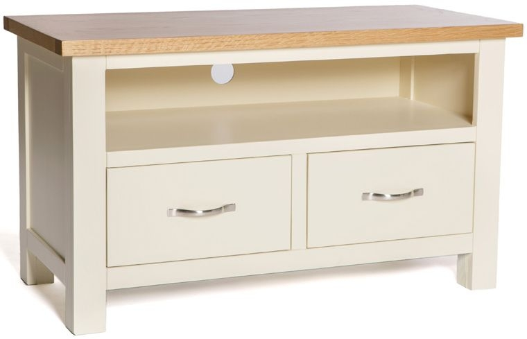 York Ivory 2 Drawer TV Unit