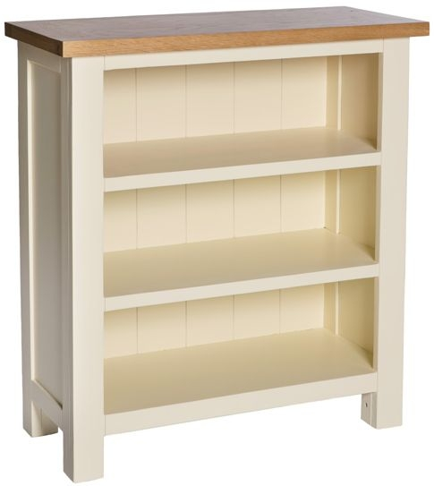 York Ivory Low Bookcase