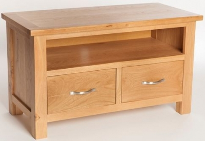 York Oak TV Unit