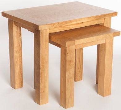York Oak Nest of Tables