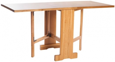 York Oak Gate Leg Drop Leaf Extending Dining Table